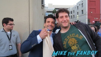 Frank Grillo signing autographs jimmy kimmel live 2014 hot sexy rare