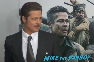Fury Washington dc movie premiere brad pitt jon bernthal 1