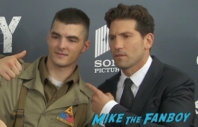 Fury Washington dc movie premiere brad pitt jon bernthal 12