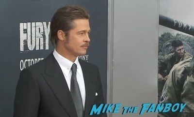 Fury Washington dc movie premiere brad pitt jon bernthal 2