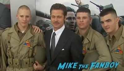 Fury Washington dc movie premiere brad pitt jon bernthal 6