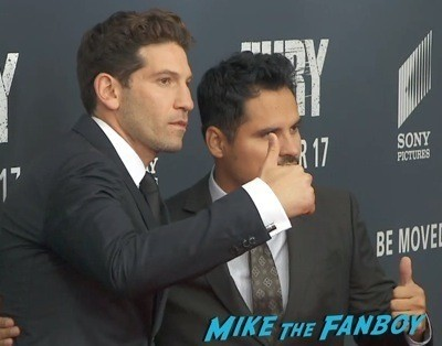 Fury Washington dc movie premiere brad pitt jon bernthal 7
