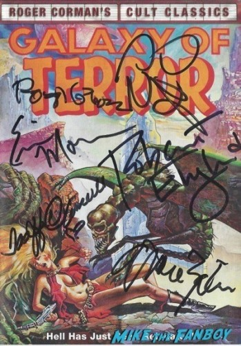 GALAXY OF TERROR signed autograph dvd