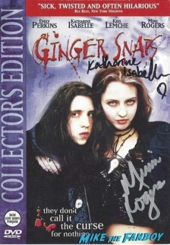 GINGER SNAPS signed autograph dvd cover