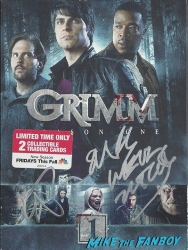 GRIMM signed autograph dvd cover