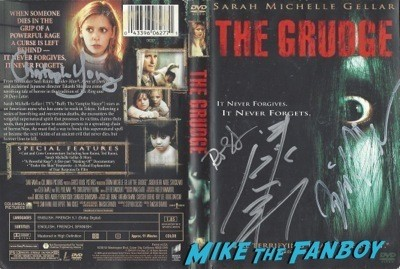 GRUDGE signed autograph dvd cover rare