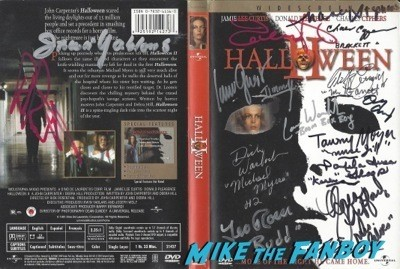 HALLOWEEN 2 signed dvd cover
