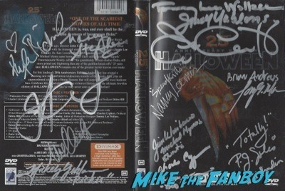HALLOWEEN signed dvd cover