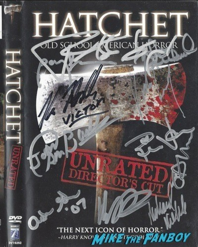HATCHET signed dvd cover