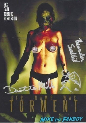 HER NAME WAS TORMENT CENSORED signed dvd cover