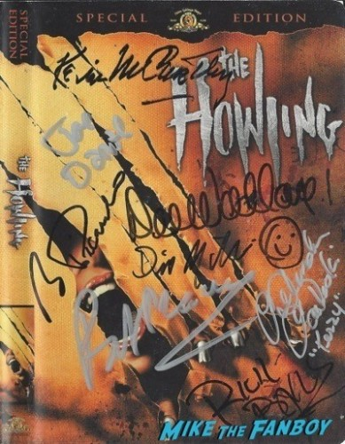 HOWLING signed autograph dvd cover