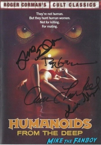 HUMANOIDS signed dvd cover rare