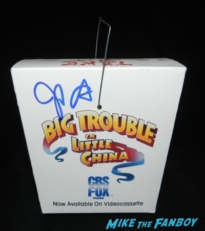 big trouble in little china counter display stand standee signed by john carpenter