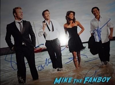 Hawaii 5-0 cast signed autograph photo Sunset at the beach season 5 premiere event scott caan 18