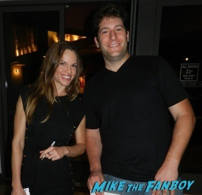 Hilary Swank Signing autographs q and a fan photo rare 1