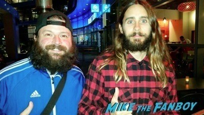 Jared Leto fan photo signed autograph rare