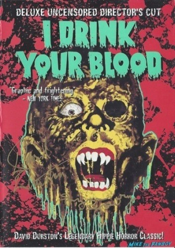 I DRINK YOUR BLOOD signed autograph dvd