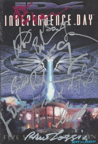 INDEPENDENCE DAY signed autograph dvd