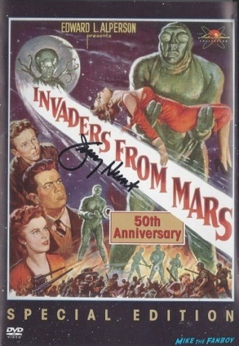 INVADERS FROM MARS signed autograph dvd