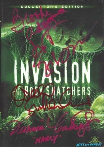 INVASION OF THE BODY SNATCHERS 78 signed autograph dvd