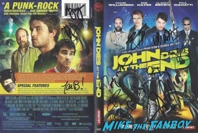 JOHN DIES AT THE END signed autograph dvd
