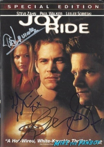 JOY RIDE signed autograph dvd