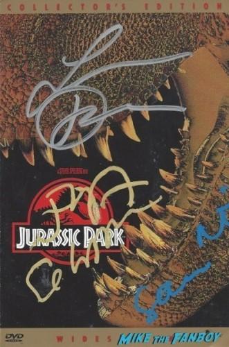JURASSIC PARK signed autograph dvd