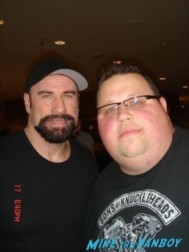 John Travolta signing autographs fan photo selfie rare 2