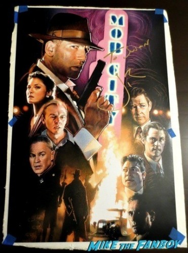 Jon Bernthal Signed autograph mob city poster the walking dead rare