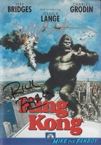 KING KONG 1976 signed autograph dv cover