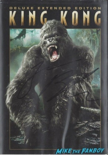 KING KONG 2005 signed autograph dvd