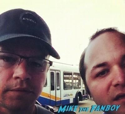 Matt Damon Fan Photo signing autographs rare 1