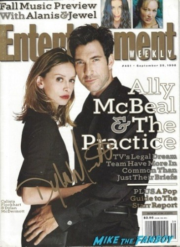 Dylan McDermott signing autographs jimmy kimmel live 2014 entertainment weekly cover rare
