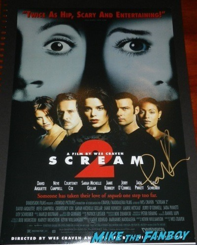 Portia de Rossi signed autograph scream 2 mini poster