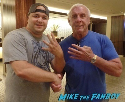 Ric Flair signing autographs fan photo rare signed wwe 2