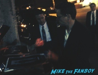 Robert Downey Jr  signing autographs the juror q and a  4