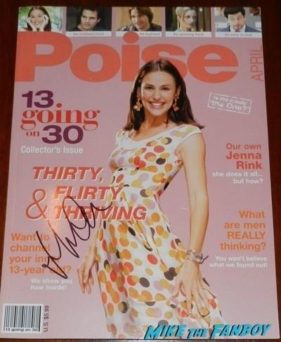 13 going on 30 poise magazine presskit magazine cover rare promo signed autograph