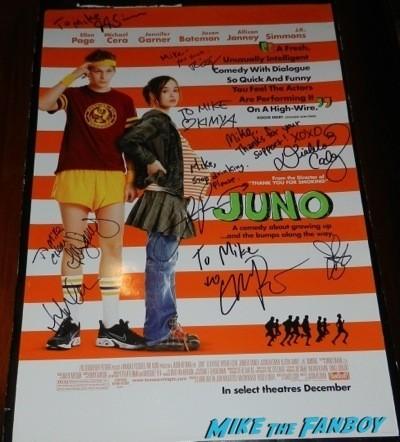 juno cast signed poster jk simmons jennifer garner ellen page