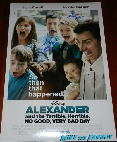 Alexander and the Terrible Horrible No Good Very Bad Day signed autograph mini poster