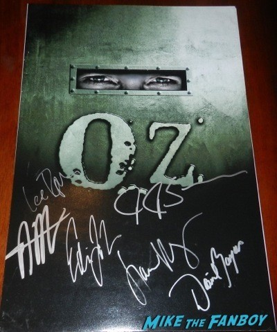 Oz HBO series signed poster jk simmons