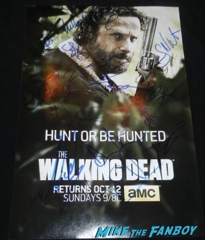 The Walking Dead Season 5 cast signed autograph poster