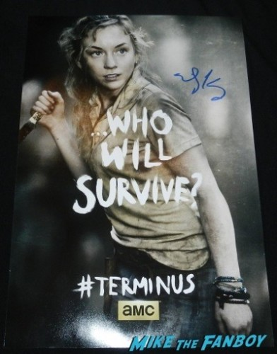 Emily Kinney signed autograph The Walking Dead terminus poster