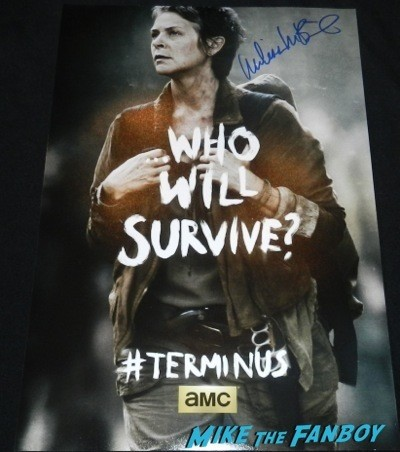 melissa Mcbride signed autograph The Walking Dead poster