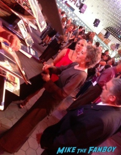 Melissa McBride The Walking Dead Season 5 Premiere Norman Reedus Andrew Lincoln signing autographs  35