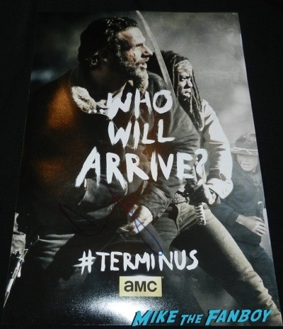 andrew lincoln signed The Walking Dead terminus mini poster