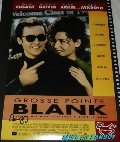 dan aykroyd signed grosse point blank mini poster crystal head vodka autograph signing costco burbank halloween 59