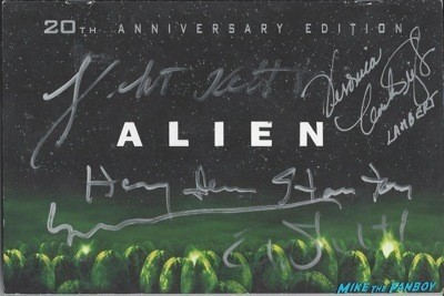ALIEN signed dvd cover insert rare