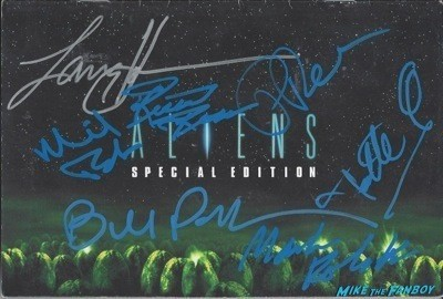 ALIENS signed autograph dvd cover promo