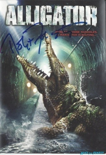 ]ALLIGATOR signed dvd cover rare