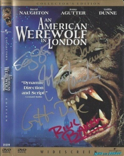 AMERICAN Werewolf IN LONDON signed dvd cover rare